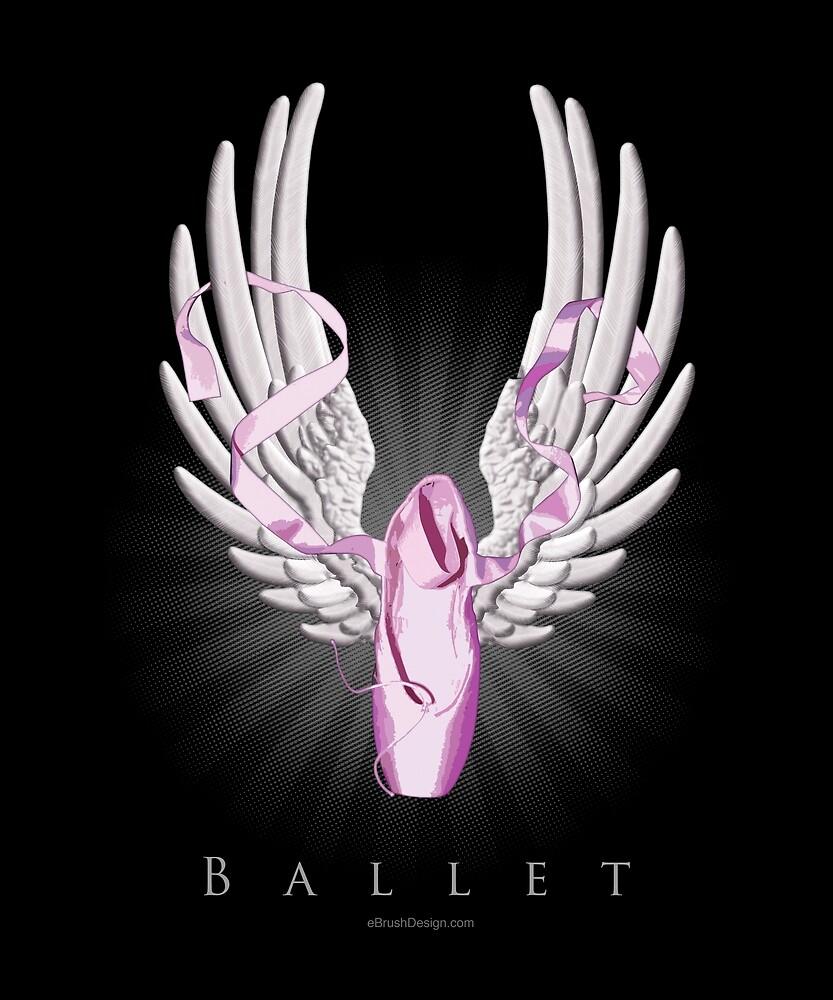 Winged Ballet I by eBrushDesign