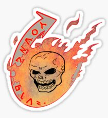 young blaze by ian rogers Sticker