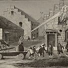 Firemen at Work 1733 Vintage Print by GumptionLLC