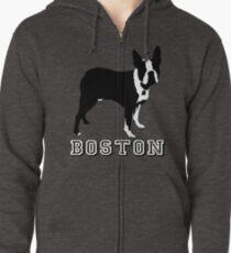 BOSTON TERRIER Zipped Hoodie