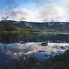 Reflected Reservoir Clouds on a March Day by Welshpixels