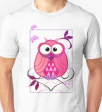 The Pink Owl Unisex T-Shirt