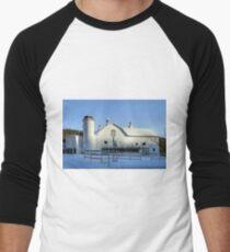 Rural Winter Whites Men's Baseball ¾ T-Shirt