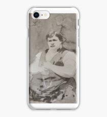 Victorian Sideshow Fat Man iPhone Case/Skin
