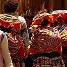 3 colored girls and an alpaca by Constanza Barnier