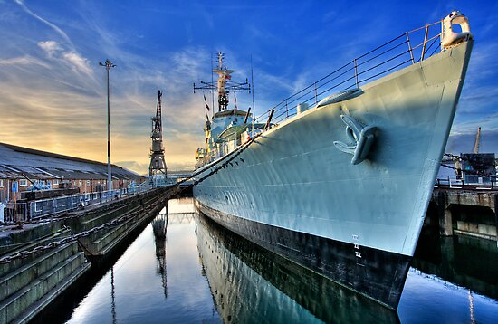 HMS Cavalier Chatham Historic Dockyard by Robert Radford