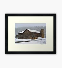 The Old Barn ...Faded, But Sturdy Framed Print