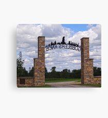 Gateway to Groundhog land Canvas Print