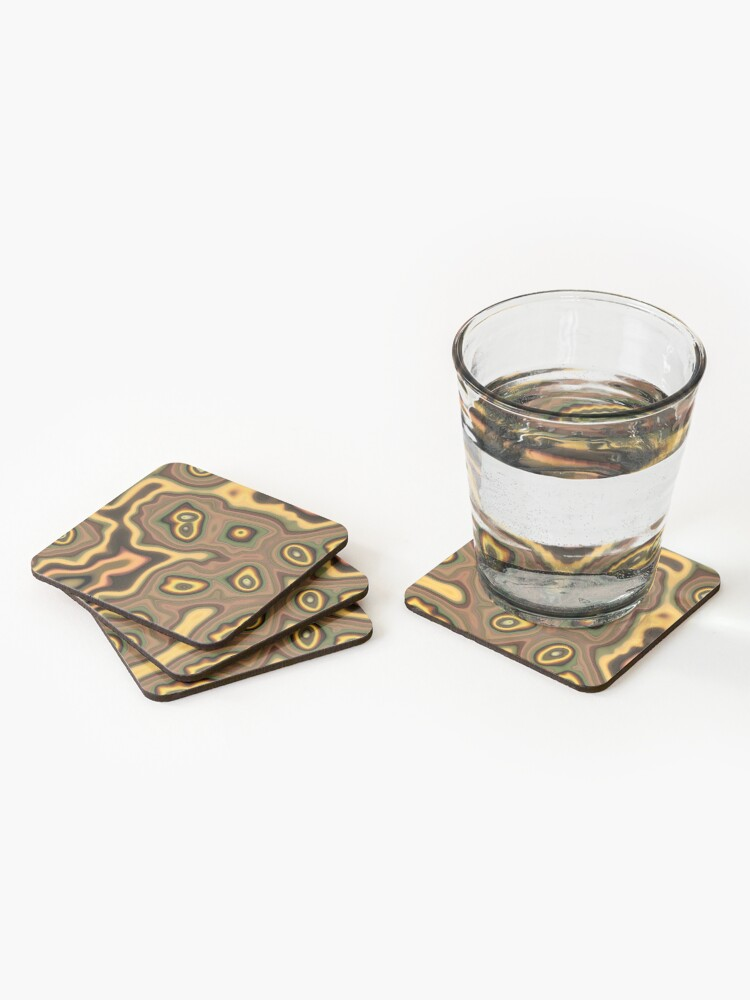 Alternate view of Teal Outlines Coasters (Set of 4)