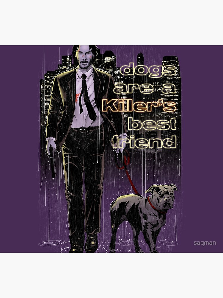 Dogs are a killer's best friend (color version) by saqman