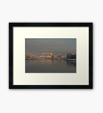 Winter on the Lagan River in Belfast  Framed Print