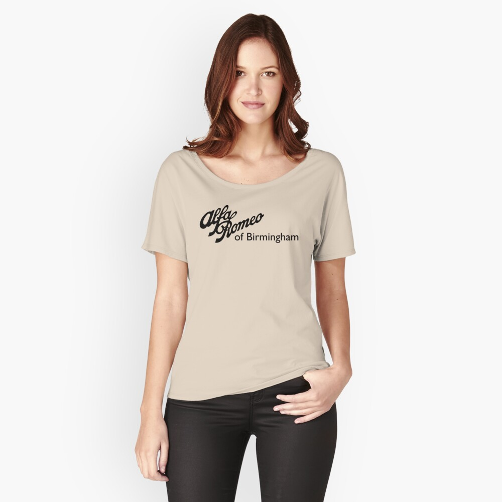 Alfa Romeo of Birmingham - Classic Script Women's Relaxed Fit T-Shirt Front