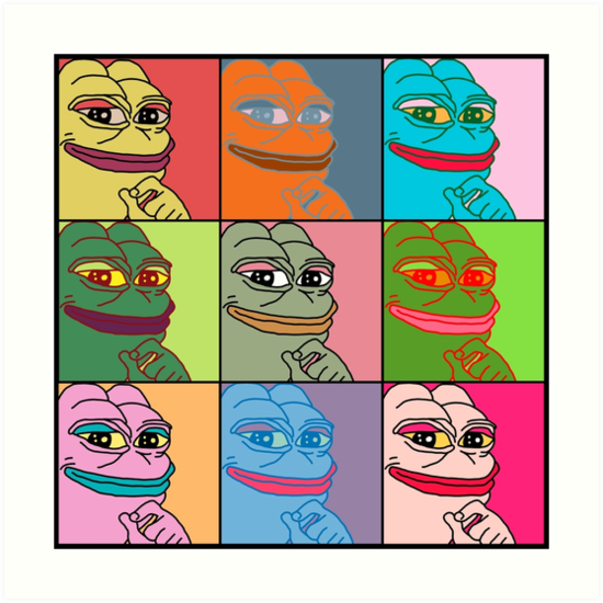 Rare Pop Art Marilyn Monroe Pepe the Frog by Andi S.
