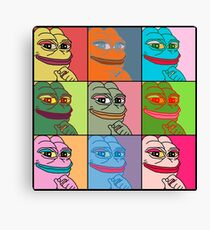 Rare Pop Art Marilyn Monroe Pepe the Frog Canvas Print