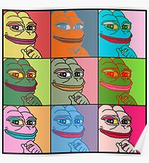 Rare Pop Art Marilyn Monroe Pepe the Frog Poster