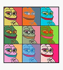 Rare Pop Art Marilyn Monroe Pepe the Frog Photographic Print