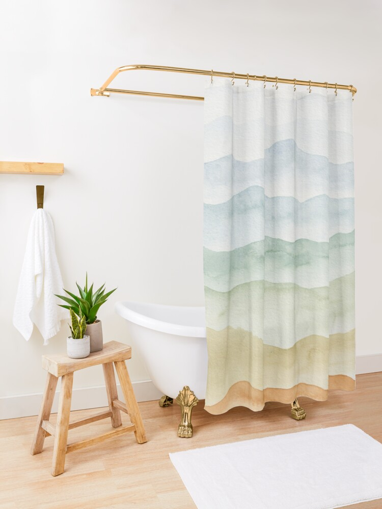 Alternate view of Sweet Mountains Shower Curtain