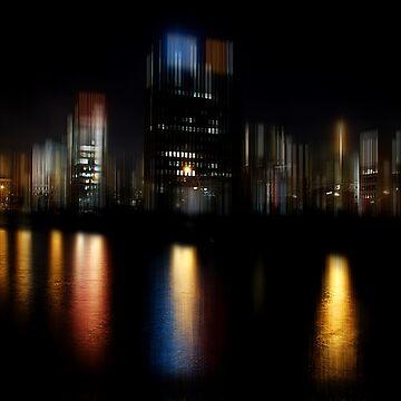 Hamburg at Night by hannes61