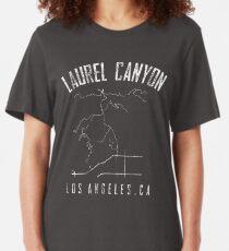 LAUREL CANYON CALIFORNIA MAP SHIRT LOS ANGELES CALIFORNIA   Slim Fit T-Shirt