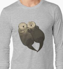 Significant Otters - Otters Holding Hands Long Sleeve T-Shirt
