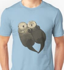Significant Otters - Otters Holding Hands Unisex T-Shirt