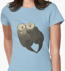 Significant Otters - Otters Holding Hands Women's Fitted T-Shirt