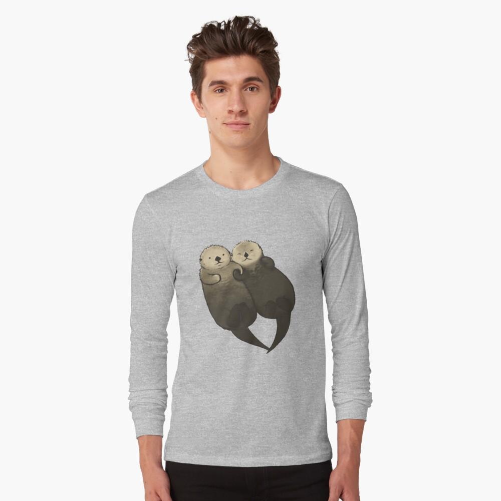 Bedeutende Otter - Otter, die Hände halten Langarmshirt