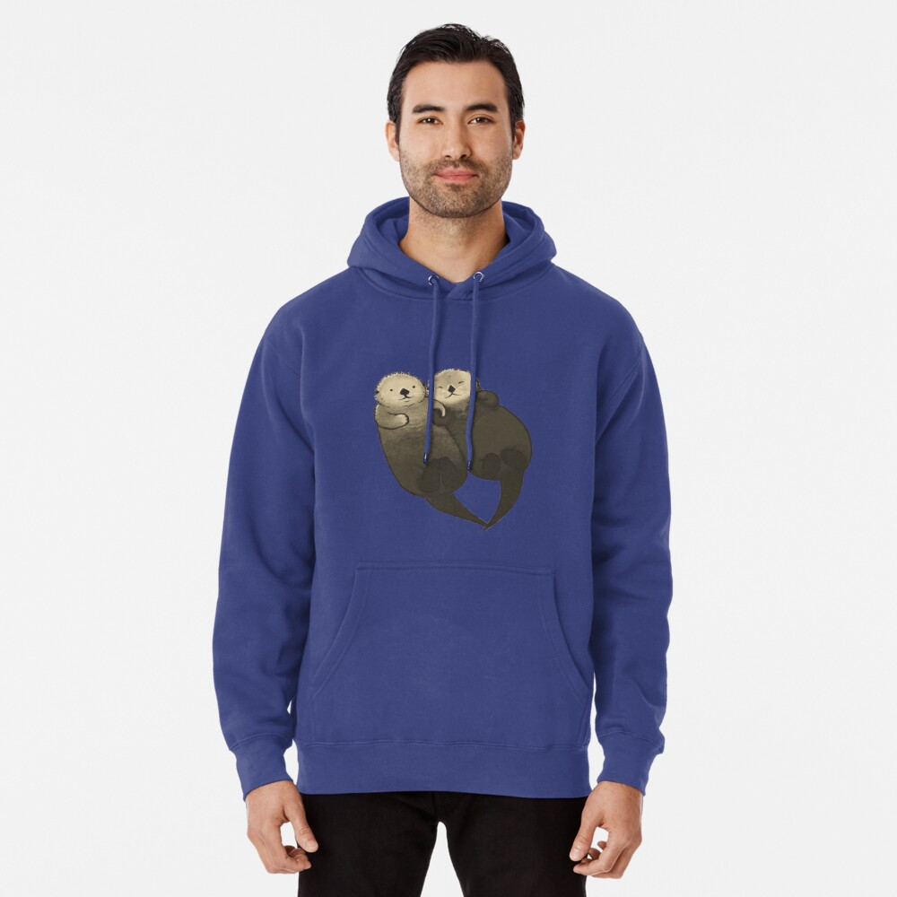 Significant Otters - Otters Holding Hands Pullover Hoodie
