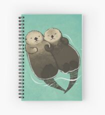 Significant Otters - Otters Holding Hands Spiral Notebook