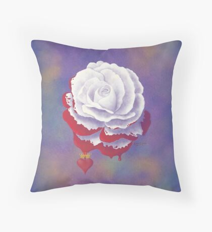 Painted Rose - Square Image Throw Pillow