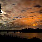 Wairoa River Trainbridge at night by Paul Mercer