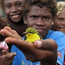 Boy with Sunbird by Reef Ecoimages