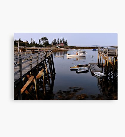 Quiet Harbor - Cape Newagen,  Maine Canvas Print