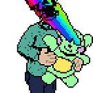 Pixel Death 1 - Teddy Rainbow Blast by Michael Bastianelli