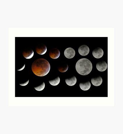Lunar Eclipse 2010-12-21 Art Print