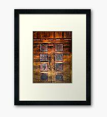 Copper Plate Door  Framed Print