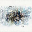 « Illustration architecture intérieure » par Chrystelle Hubert