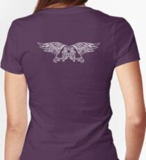 Leafy Angel Wings Womens Fitted T-Shirt