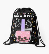 Boba Kitty Drawstring Bag