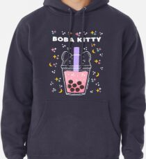 Boba Kitty Pullover Hoodie