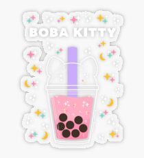 Boba Kitty Transparent Sticker