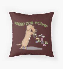 Wired Dachshund Throw Pillow