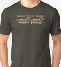 Dachshund Factory Settings Unisex T-Shirt