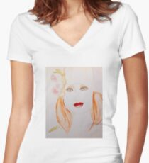 Spring Beauty Women's Fitted V-Neck T-Shirt