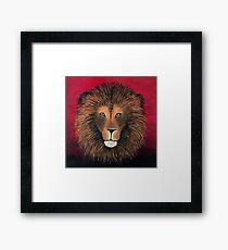 Lion Painting Print Framed Print