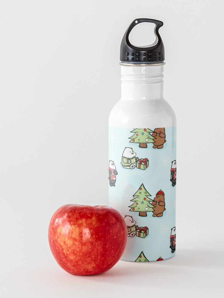 Alternate view of We Bare Bears Christmas Pattern Water Bottle