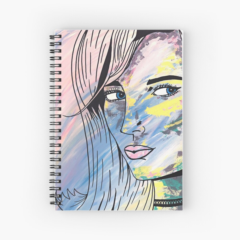 They Call Her Poppy - Acrylic Painting Print Spiral Notebook