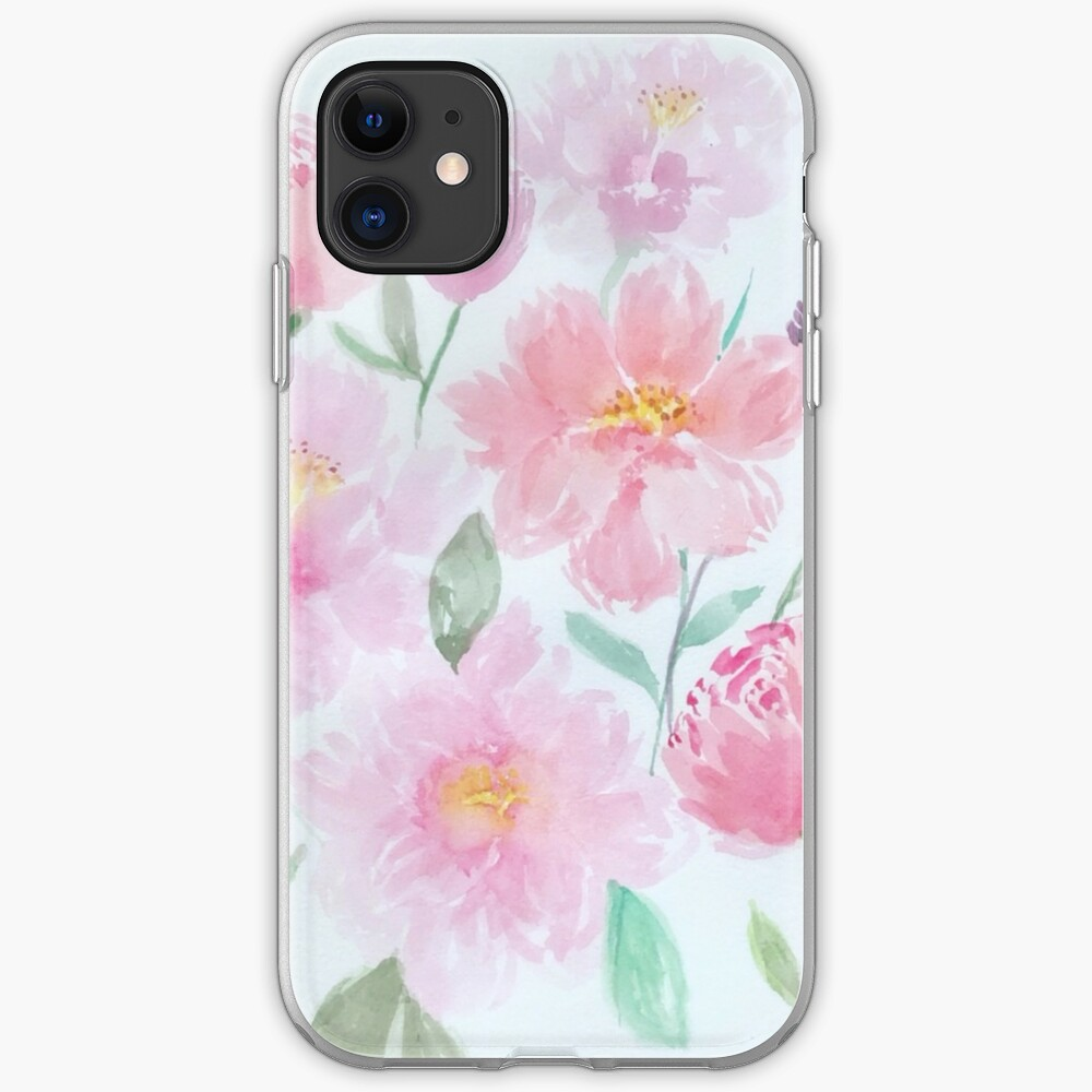 Watercolour Peonies  iPhone Soft Case