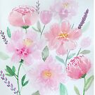 Watercolour Peonies  by ArtByMichelleT