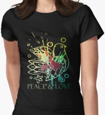 peace & love Women's Fitted T-Shirt